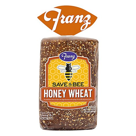Franz Save The Bee Sandwhich Bread Honey Wheat - 24 Oz