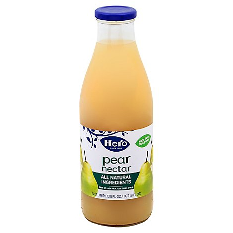 Hero Nectar All Natural Pear - 33.8 Fl. Oz.