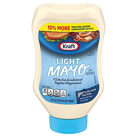 Kraft Mayonnaise Mayo Light Squeeze Bottle - 22 Fl. Oz.