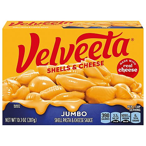 Velveeta Shells & Cheese Jumbo Shells Original Pouch - 10.1 Oz