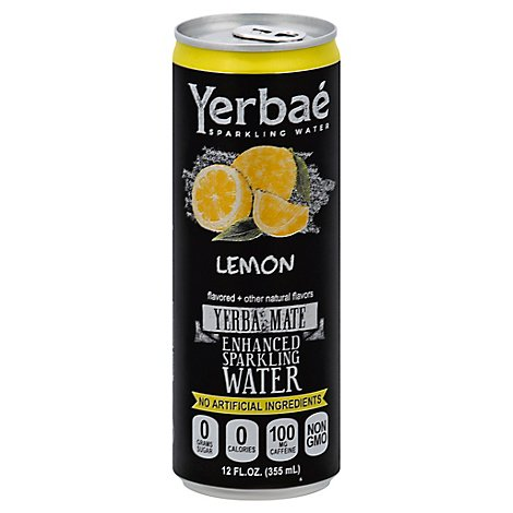 Yerbae Sparkling Water Enhanced Lemon - 12 Fl. Oz.