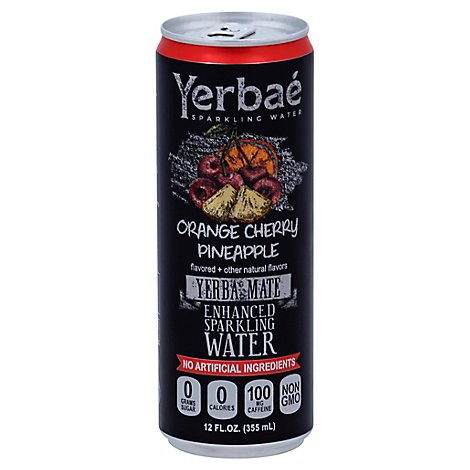 Yerbae Sparkling Water Enhanced Orange Cherry Pineapple - 12 Fl. Oz.