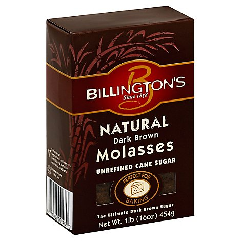 Billingtons Cane Sugar Unrefined Dark Brown Molasses - 16 Oz