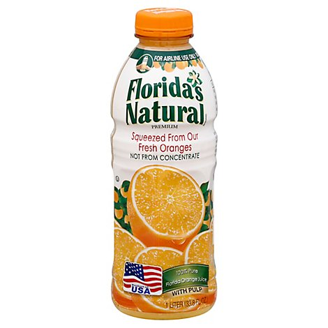 Floridas Natural Orange Juice with Pulp Chilled - 33.8 Fl. Oz.