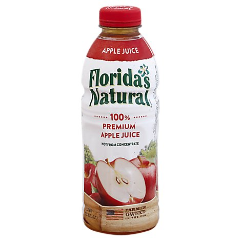 Floridas Natural Apple Juice Chilled - 33.8 Fl. Oz.