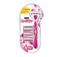 Schick Quattro For Women Razor With 4 Razor Blade Refills - Each