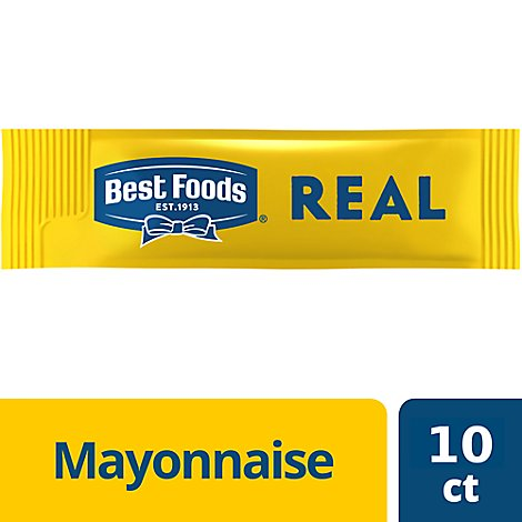 Best Foods Mayonnaise Real To Go - 10-0.39 Fl. Oz.