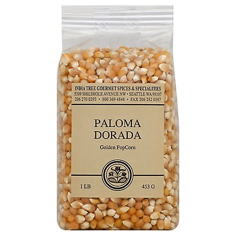 India Tree Paloma Dorado Golden Popcorn - 16 Oz