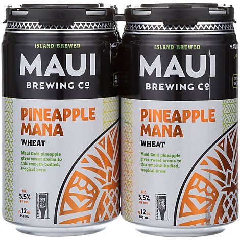 Maui Brews Mana Wheat In Cans - 4-12 Fl. Oz.