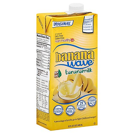 Banana Wave Banana Milk Original - 32 Fl. Oz.