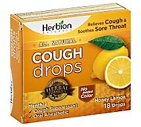 Herbion Naturals Cough Drop Hny Lemon - 18 Count