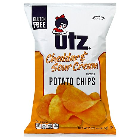 Utz Cheddar & Sour Cream Potato Chips - 2.875 Oz