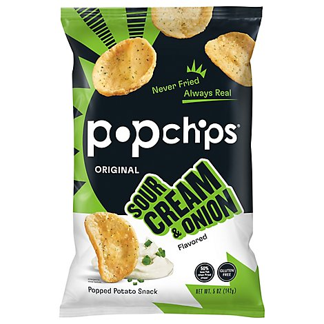 popchips Popped Chip Snack Sour Cream & Onion - 5 Oz