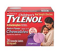 Tylenol Childrens Chewables Grape Tablets - 24 Count