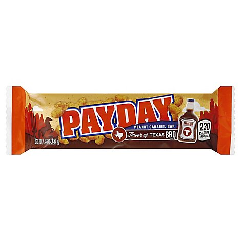 PayDay Candy Bar Peanut Caramel Flavor of Texas BBQ - 1.85 Oz