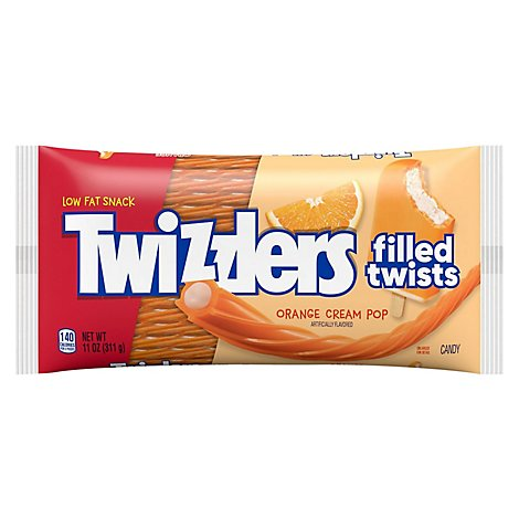Twizzlers Candy Twists Orange Cream Pop - 11 Oz