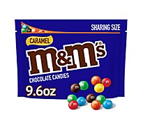 M&Ms Chocolate Candy Caramel Sharing Size - 9.6 Oz