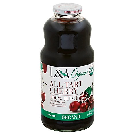 L & A Organic Juice All Tart Cherry - 32 Fl. Oz.