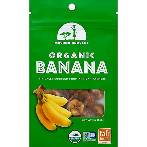 Mavuno Harvest All Natural Dried Banana Organic - 2 Oz