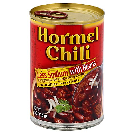 Hormel Chili with Beans Less Sodium - 15 Oz