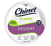 Chinet Plates Appetizer and Dessert Classic White Wrapper - 70 Count