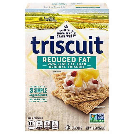 Triscuit Crackers Reduced Fat - 7.5 Oz