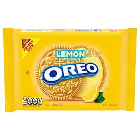 OREO Sandwich Cookies Lemon Creme Family Size! - 20 Oz
