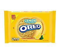 OREO Cookies Sandwich Lemon Creme Family Size! - 20 Oz