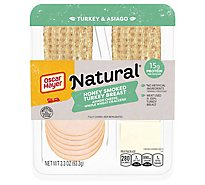 Oscar Mayer Natural Turkey Breast Honey Smoked Asiago Cheese - 3.3 Oz