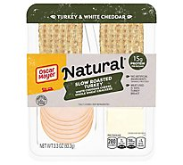 Oscar Mayer Natural Turkey Breast Slow Roasted White Cheddar Cheese - 3.3 Oz