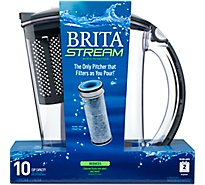 Brita Stream Water Filtration System Pitcher - Each