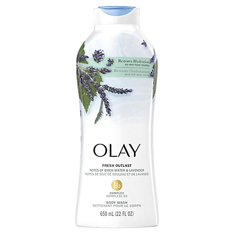 Olay Fresh Outlast Body Wash Purifying Birch Water & Lavender - 22 Fl. Oz.