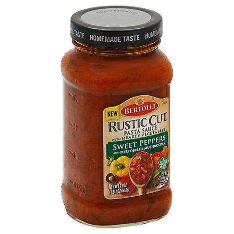 BERTOLLI Rustic Cut Pasta Sauce with Hearty Vegetables Sweet Peppers Jar - 23 Oz