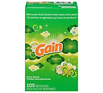 Gain Dryer Sheets Original Box - 105 Count
