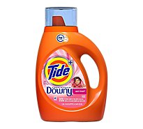Tide Plus Laundry Detergent Liquid HE Turbo Clean Downy April Fresh - 46 Fl. Oz.