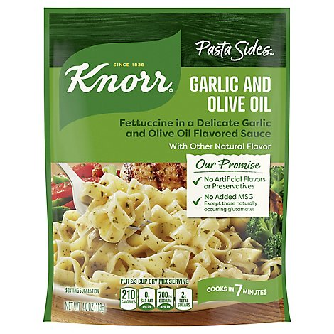 Knorr Italian Sides Fettuccini Garlic And Olive Oil - 4 Oz