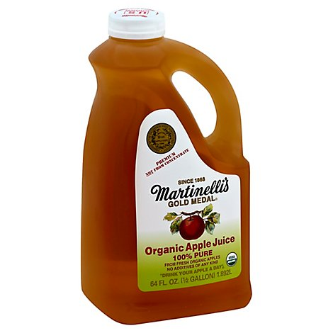 Martinellis Organic Apple Juice - 64 Fl. Oz.