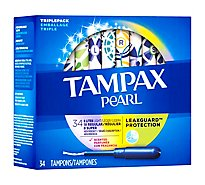 Tampax Pearl Tampons Triplepack Assorted Absorbency Scented - 34 Count
