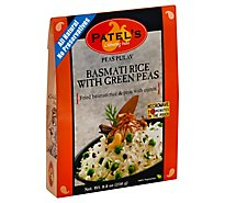 Patels Indian Cuisine Ready-To-Eat Basmati Rice With Green Peas Peas Pulav - 8.8 Oz