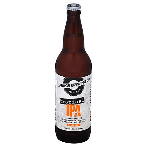 Garage Brew Tropical Ipa In Bottles - 22 Fl. Oz.