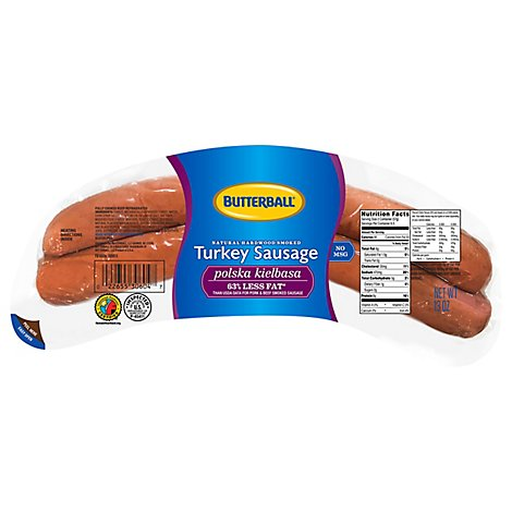Butterball Sausage Smoked Polska Kielbasa Natural Hardwood Smoked - 13 Oz