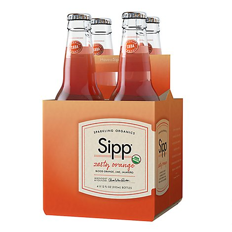 Sipp Sparkling Orange Zest - 4-12 Fl. Oz.
