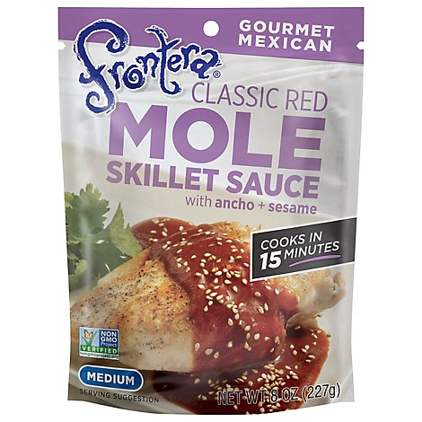 Frontera Sauce Skillet Mole Classic Red Medium Pouch - 8 Oz