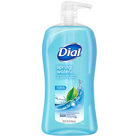 Dial Body Wash Spring Water With Moisturizer Value Size - 32 Oz