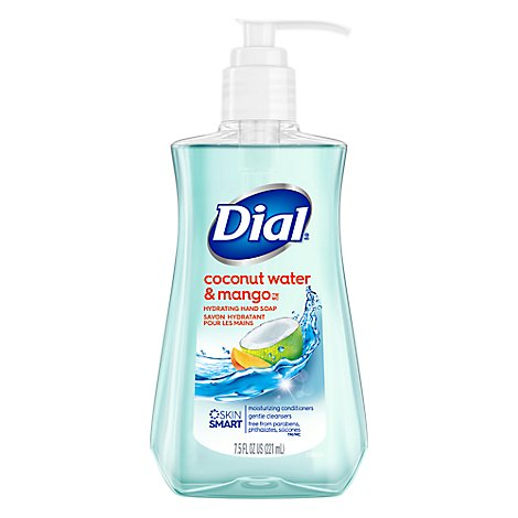 Dial Hand Soap Liquid With Moisturizer Antibacterial Coconut Water & Mango - 7.5 Fl. Oz.