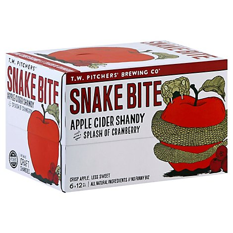 Tw Pitchers Snake Bite In Cans - 6-12 Fl. Oz.