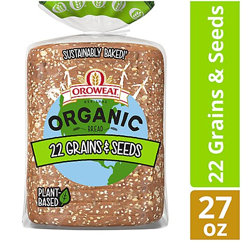 Oroweat Organic Bread 22 Grains & Seeds - 27 Oz