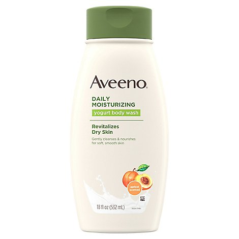 Aveeno Active Naturals Body Wash Daily Moisturizing Yogurt Apricot & Honey - 18 Fl. Oz.