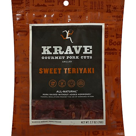 Krave Pork Jerky Grilled Sweet Teriyaki - 2.7 Oz