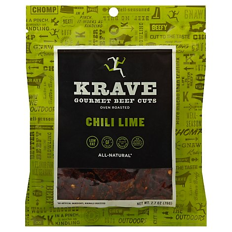 Krave Beef Jerky Chili Lime - 2.7 Oz